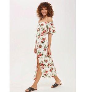 Topshop Bardot Floral Print Midi Dress!